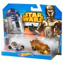 Hot Wheels Star Wars 2ks autíčko - C-3PO a R2-D2 2