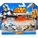 Hot Wheels Star Wars 2ks autíčko - Battle Droid a Clone Trooper 2
