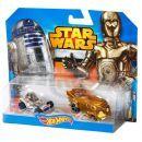 Hot Wheels Star Wars 2ks autíčko - C-3PO a R2-D2 2