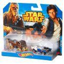Hot Wheels Star Wars 2ks autíčko - Han Solo a Chewbacca 2
