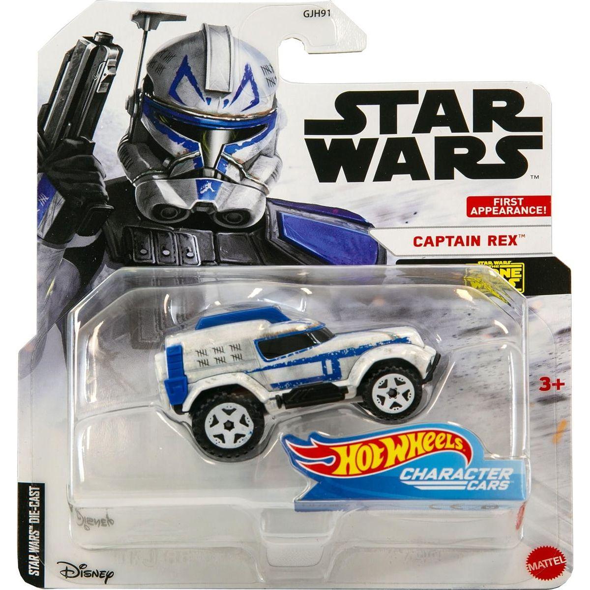 Hot Wheels Star Wars Character Cars Captain Rex