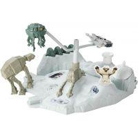 Hot Wheels Star Wars Hrací set s hvězdnou lodí - Hoth Echo Base Battle 2