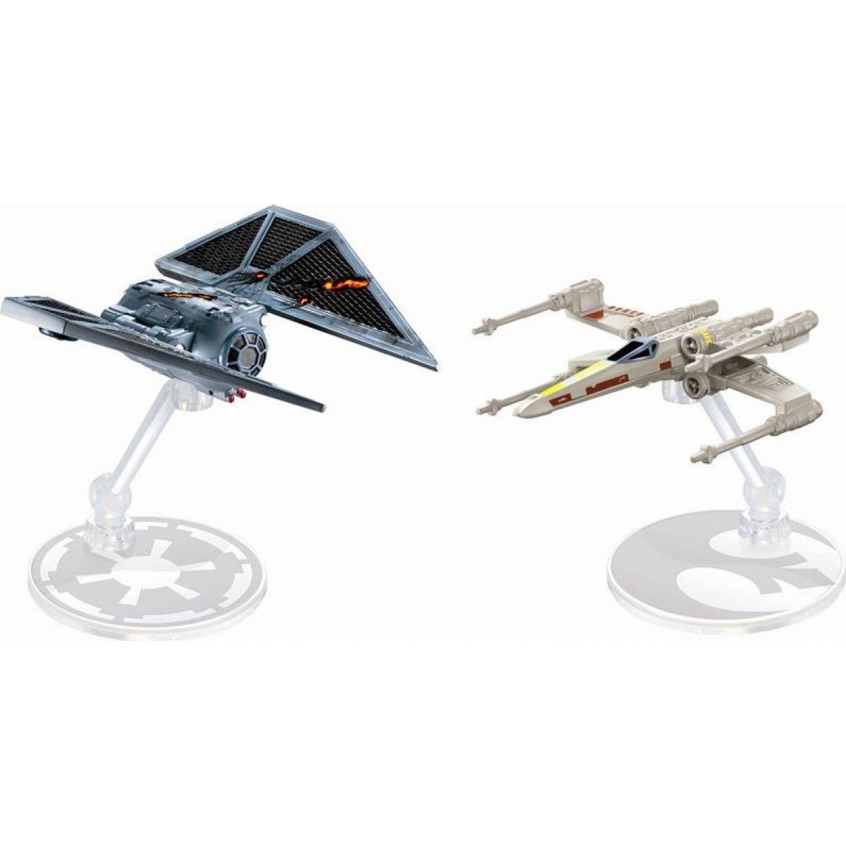 Hot Wheels Star Wars Starship - Tie Striker vs. X-Wing Fighter DXM38