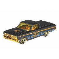 Hot Wheels Tématické auto  50. let výročí Black & Gold '65 Ford Ranchero