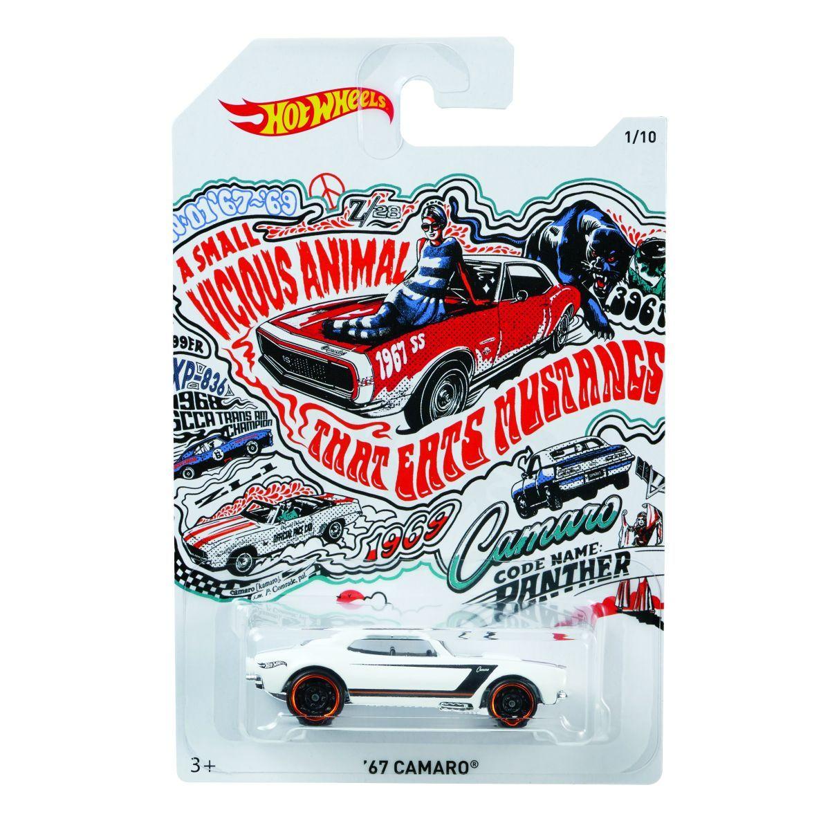 Hot Wheels Tématické auto Prémiová kolekce 67 Camaro