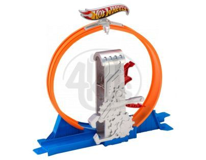 Hot Wheels Track Builder střední set - Smyčka s rychloodpalem