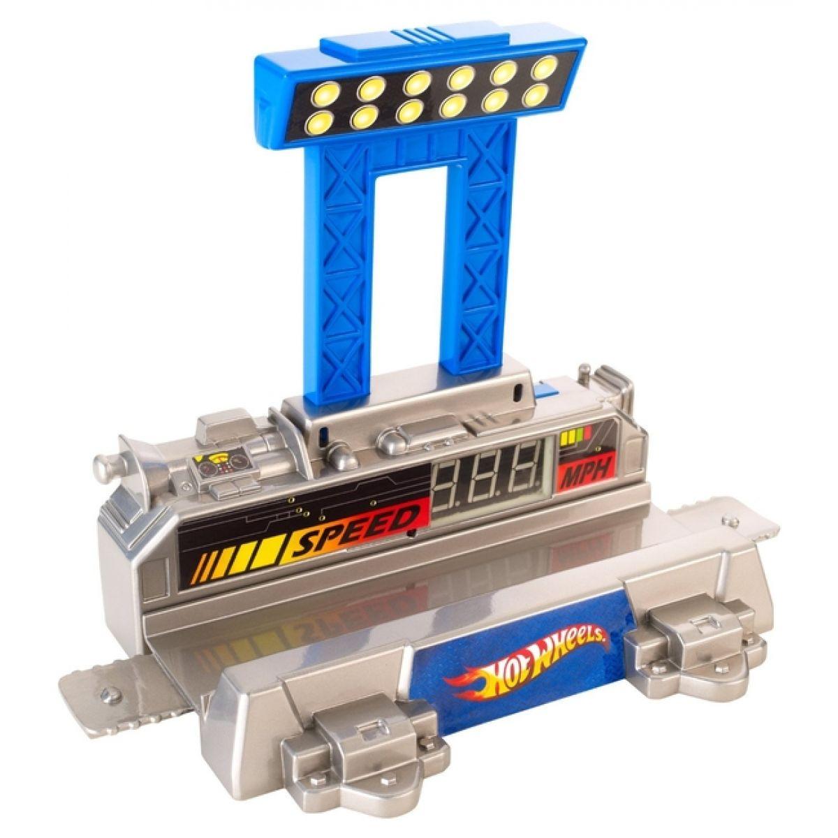 Hot Wheels Track Builder velký set - Digitální rychloměr