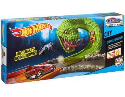 Hot Wheels Hrací sady speciálních efektů - Hadí zhouba