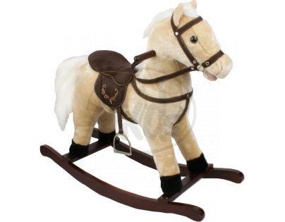 Alltoys Houpací Kůň se sedlem světlehnědý