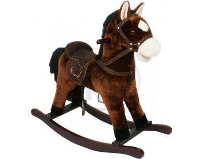 Alltoys Houpací kůň se sedlem Tmavěhnědý
