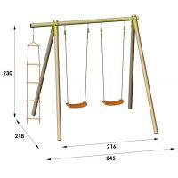 Trigano Houpací sestava 2 sedátka a žebřík - Poškozený obal 2