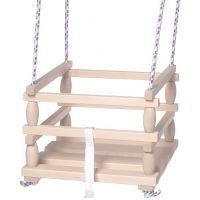 Houpačka Baby dřevěná 33x30 cm nosnost 80 kg 2