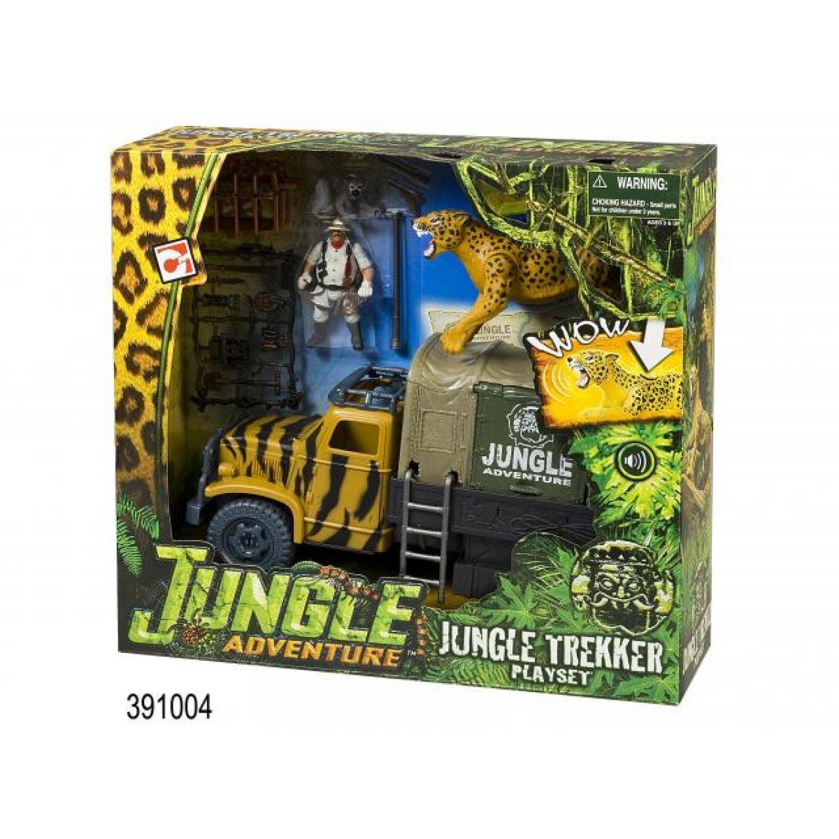 Hrací set Dobrodružství v džungli, auto s doplňky