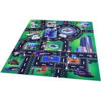 Hrací koberec Policie s kovovými auty