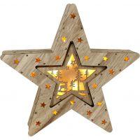 Marimex Hvězda 2v1 10+6 LED Nature 2