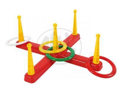 Teddies 50000182 -  Házecí hra kroužky v síťce