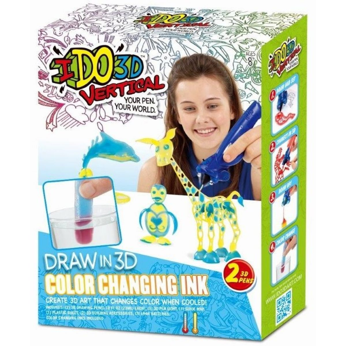 IDO3D Vertical Color change-Activity set se 2 pery