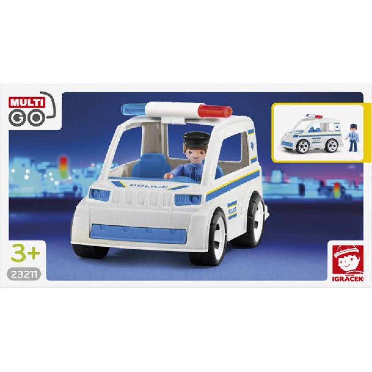 Igráček Policejní auto s policistou