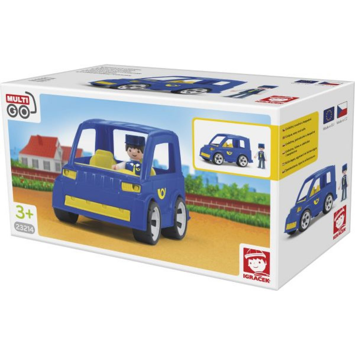 Igráček Poštovní auto s pošťákem