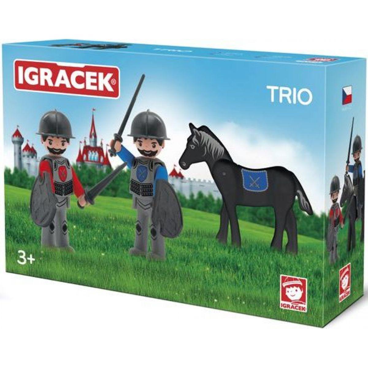 EFKO Igráček Trio Dva rytíři a černý kůň