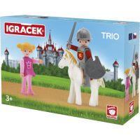 Igráček Trio Princezna, rytíř a bílý kůň