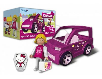 IGRÁČEK & HELLO KITTY 23080 - Adélka s autem a doplňky