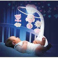 Infantino Hudební kolotoč s projekcí 3v1 růžový 2