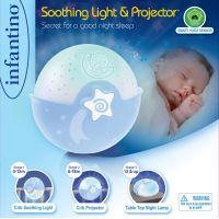 Infantino Noční lampička s projekcí modrá 6