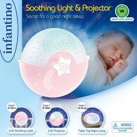 Infantino Noční lampička s projekcí růžová 2