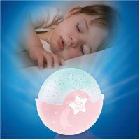 Infantino Noční lampička s projekcí růžová 3