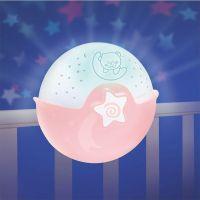 Infantino Noční lampička s projekcí růžová 4