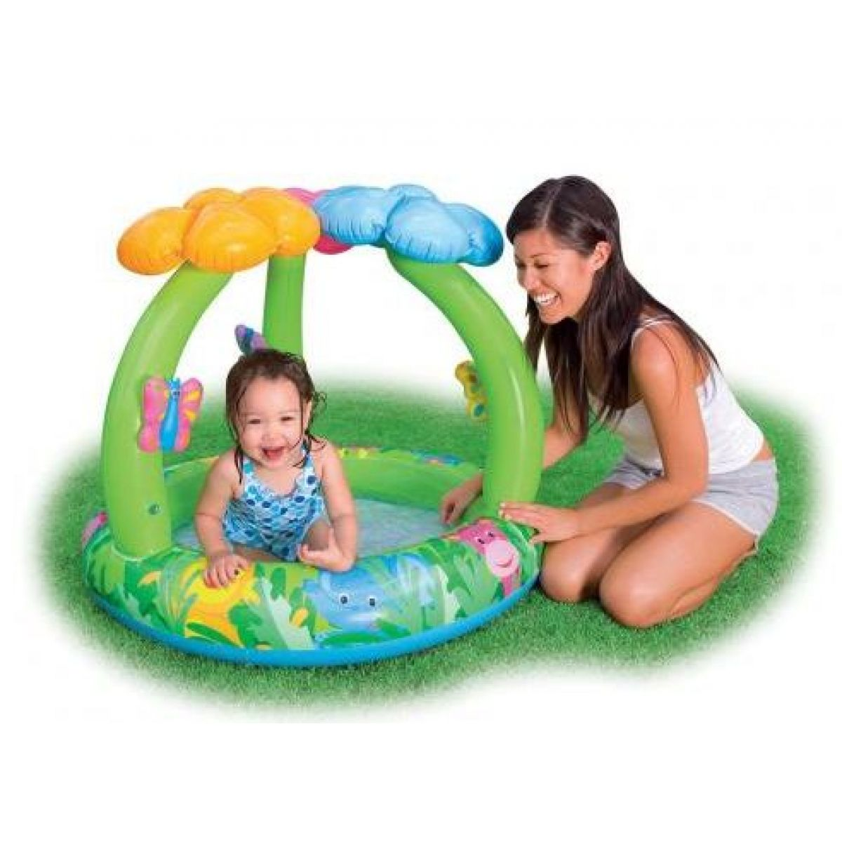 Intex 57419 Dětský bazének džungle s kytičkami