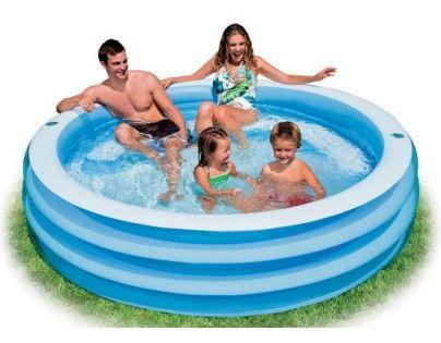 Intex 58481 Modrý bazén s půlkruhovým sedátkem