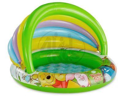 Intex 57424  Nafukovací bazén se stínítkem Medvídek Pú - Zelené dno