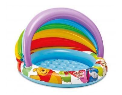 Intex 57424  Nafukovací bazén se stínítkem Medvídek Pú - Modré dno