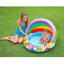 Intex 57424  Nafukovací bazén se stínítkem Medvídek Pú - Modré dno 2