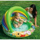 Intex 57424  Nafukovací bazén se stínítkem Medvídek Pú - Zelené dno 2