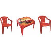 Ipae sada 2 stoličky so stolčekom červený Disney Cars