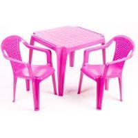 IPAE sada 2 židličky se stolečkem růžový