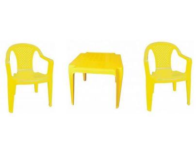 Ipae sada 2 židličky se stolečkem žlutá