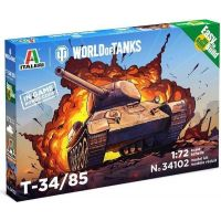 Italeri Easy to Build World of Tanks T 34 85 1:72