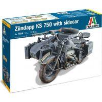 Italeri Model Kit military Zundapp KS 750 with sidecar 1:9