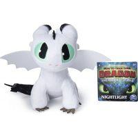 Spin Master Jak vycvičit draka Prémiová Plyš 20 cm Nightlight bílý