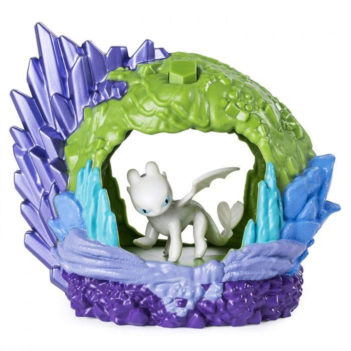 Jak vycvičit draka Svítící dračí Jeskyně s figurkou Lightfury