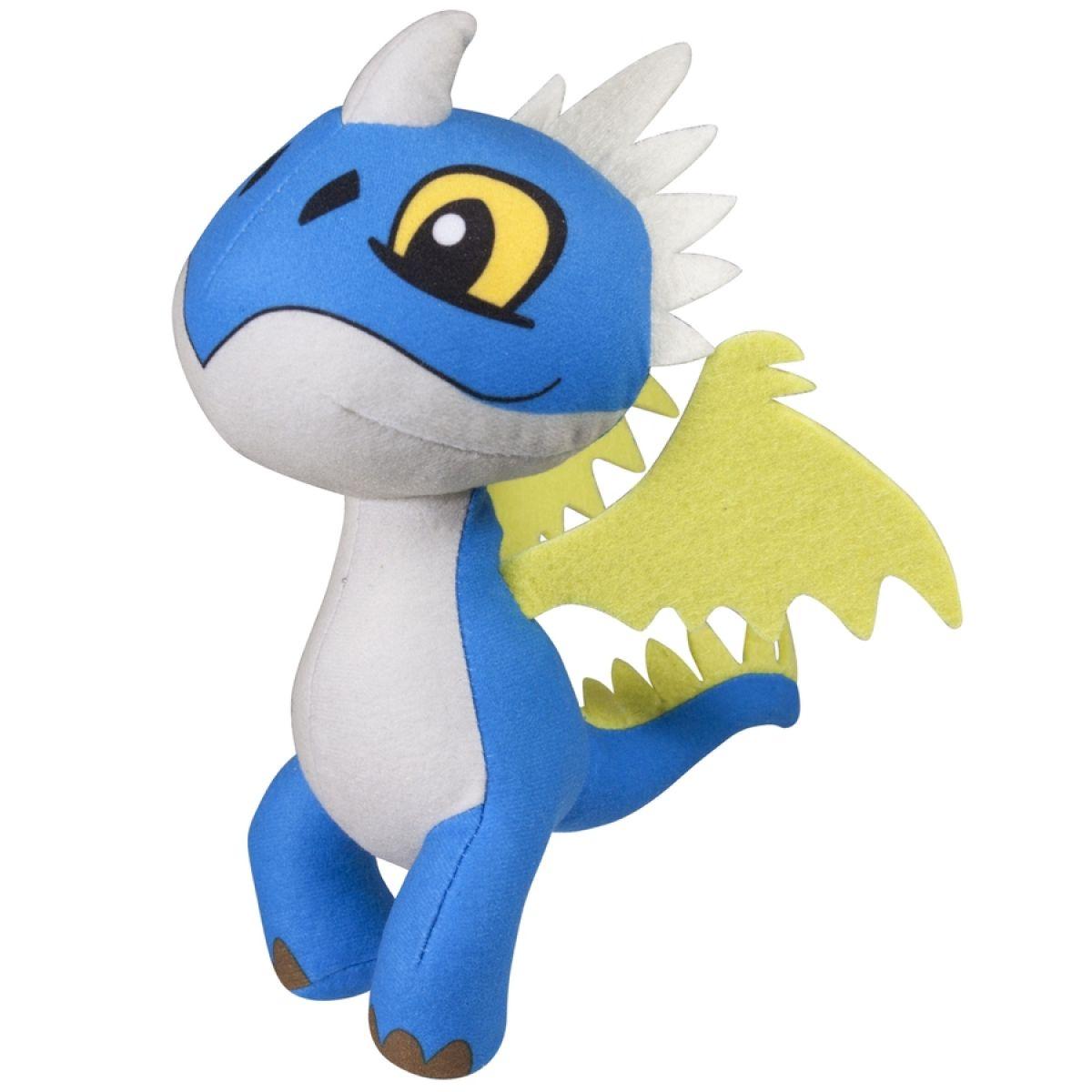 Dragons plyšový drak se zvuky 16 cm - Modrobílá
