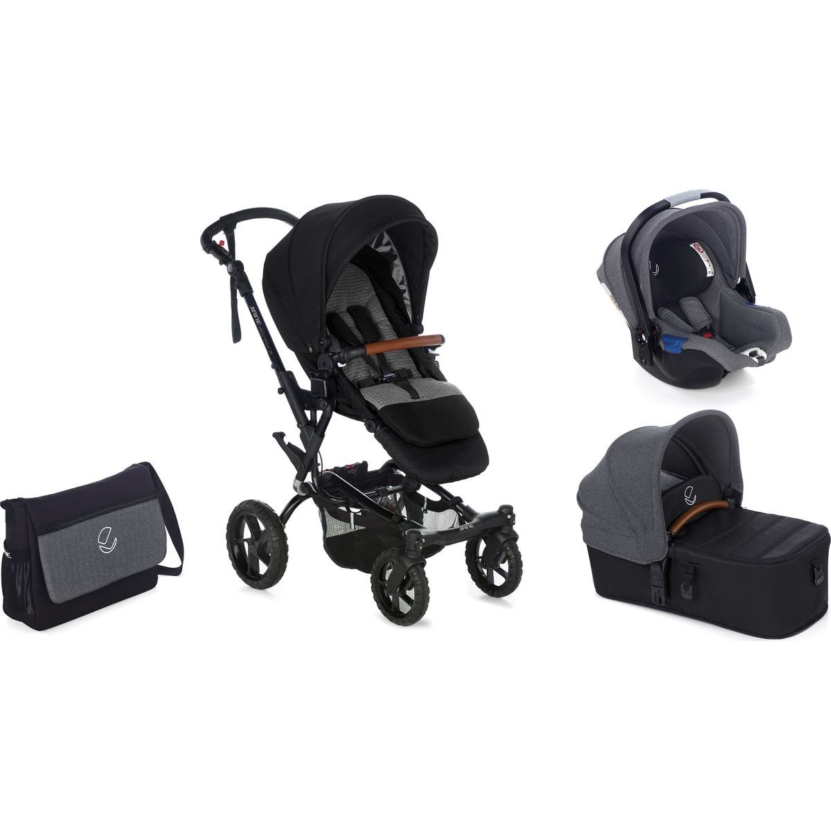 Jané Crosswalk R trojkombinace T34 Jet Black