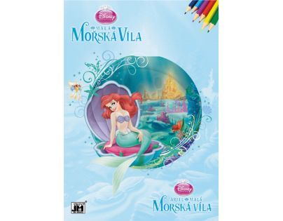Jiri Models Disney Princess Omalovánky A4 Malá mořská víla