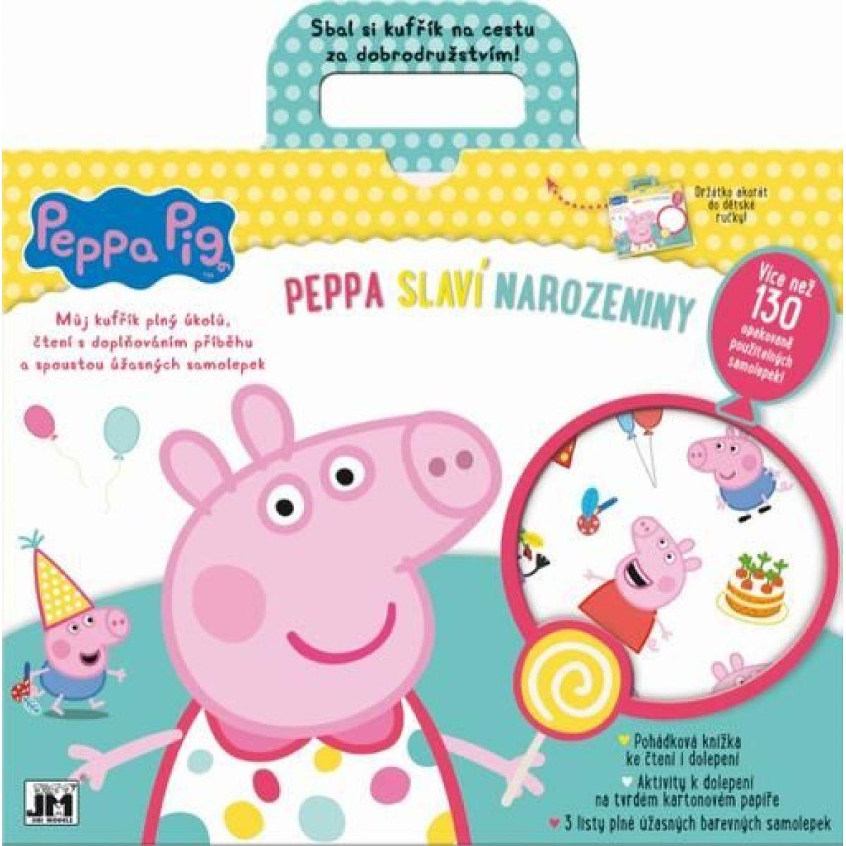 Jiri Models Zábavný kufřík Peppa slaví narozeniny