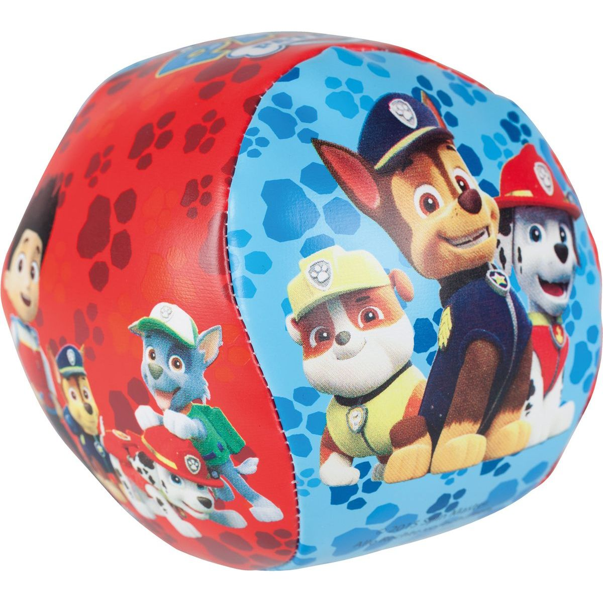 John Měkký míček s rolničkou Paw Patrol 10 cm - fialový