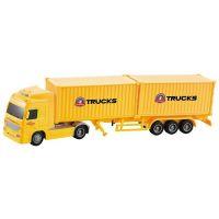 Kamion na setrvačník dva kontajnery